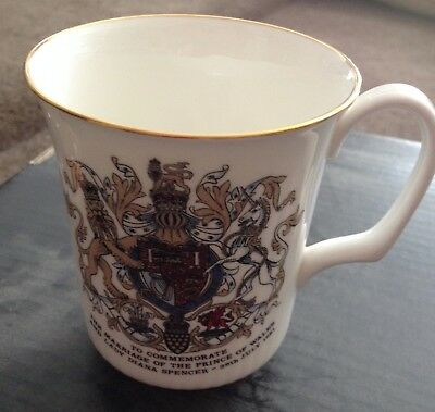 Royal Doulton commemorative Charles and Diana Wedding Mug exclusive to employees