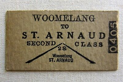 VR -  Woomelang to St Arnaud  Second Class