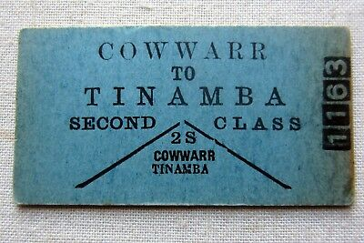 VR - Old Print Issue - Cowwarr to Tinamba  Second Class