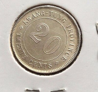 Kwang Tung Province 20 Cent Coin