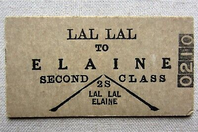 VR -  Lal Lal to Elaine  Second Class