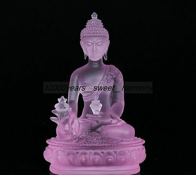Collectible Chinese Coloured(18-19Th)Glaze Hand-Carved Buddha Statue