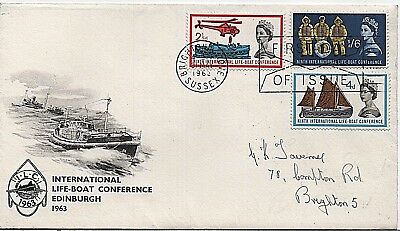 1963 'Lifeboat Conference' illustrated First Day Cover ENVELOPE FDI cancel