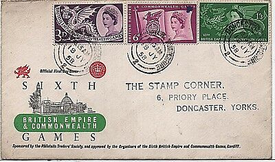 1958 'Commonwealth Games' illustrated First Day Cover