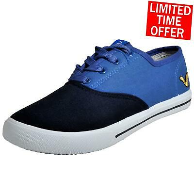 Voi Jeans Bushnell Originals Womens Designer Retro Casual Plimsoll Pumps Blue