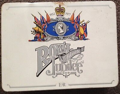 Queen's Silver Jubilee Vintage Commemorative Souvenir Tin Spicers Stationery Ltd