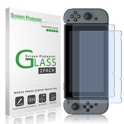 2x Nintendo Switch Tempered Glass Screen Protector for Nintendo Switch