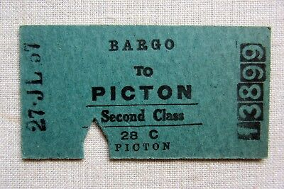 NSWR  Used 1957 - Bargo to Picton - Second Class Single