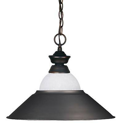 Pendant with White Mottle Glass and Olde Bronze Metal Ceiling Lights - Z-Lite