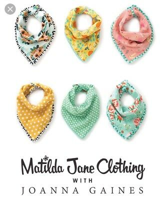 NWT Joanna Gaines MATILDA JANE Once Upon A Time KNEE HIGH BY JULY 3 Bib Set Lot