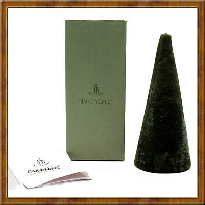 PartyLite PINEBERRY 3x7 Cone Shaped Rustic Candle~Christmas~Holiday~Winter *FREE