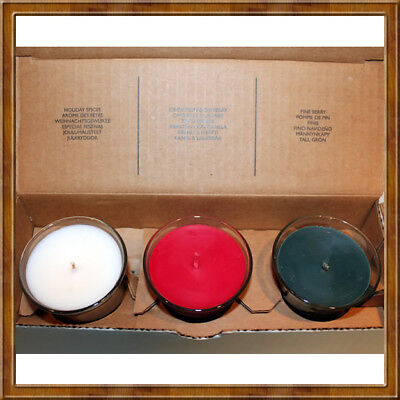 PartyLite P9574 Mini Jar Trio ~ Holiday Spices ~ Cinnamon & Bayberry ~ Pineberry