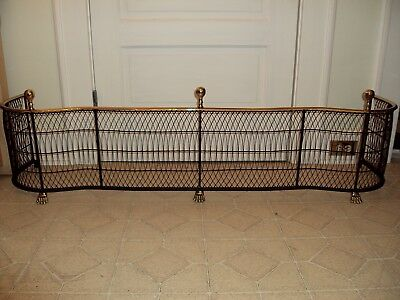 Virginia Metalcrafters Woven Serpentine Large Fireplace Fender/Custom Extra Long