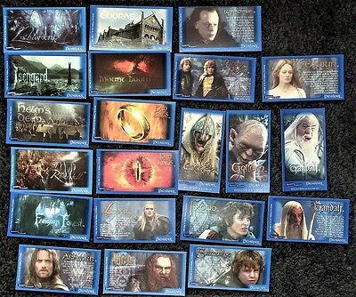 Lot of 20+ Lord of The Rings Trading Cards - Bassetts & Beyond Candy Sticks 2003