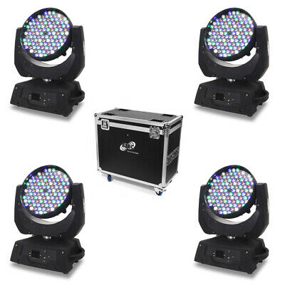 ETEC LED Moving Head ML108 Washlight Set mit Flightcase Selflock Haken TOURPACK