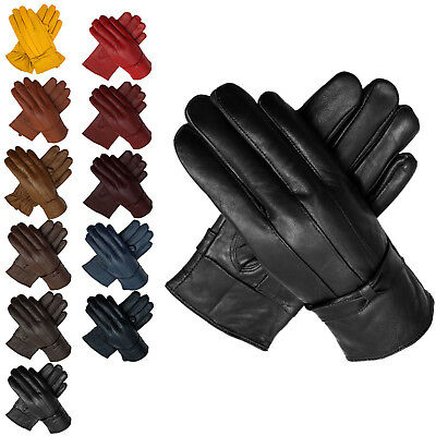 Women Lady Luxury Soft PU Leather Wrist Gloves Driving Winter Warm Fur Lined UK