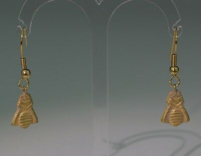 Lovely Ancient Roman Gold Fly Bee Earrings - Circa 200Ad