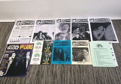AvP Aliens Facehugger Fan Magazines 1990s Convention Tickets + Star Wars Posters