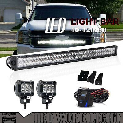 42inch 240w ATV Curved Led Work Light Bar Flood Spot Offroad Driving SUV Truck