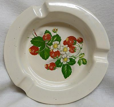Holkham Pottery Ashtray Strawberry Design