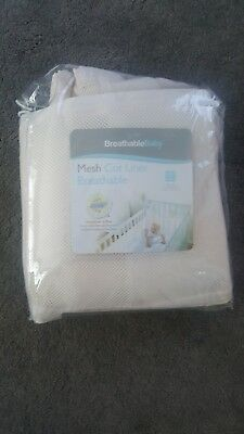 breathable cot wrap bumper