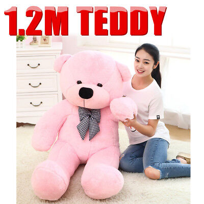 1.2M Pink Teddy Bear Giant Huge Cuddly Stuffed Soft Plush Animal Doll Toy Gift