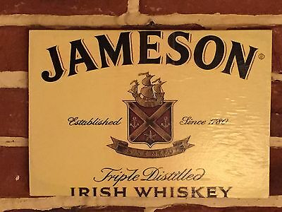 "Whisky Jameson Targa Legno Rip. D'epoca ""yellow"""