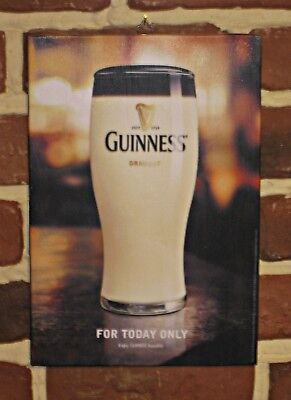 "Birra Guinness Targa Legno Rip. D'epoca ""for Today Only"""