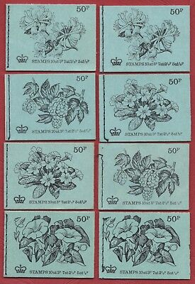 QE2 Decimal 50p x 8 booklets, all complete & in good condition, Ref B455