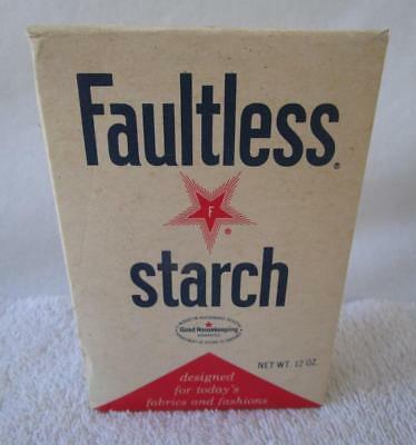 1969 NOS Full Vintage 1960's Faultless Starch Laundry Box