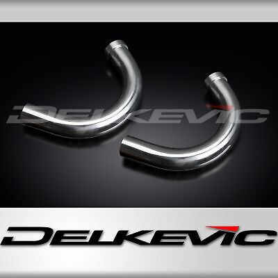 Suzuki Gt500 76-77 Stainless Steel Exhaust Downpipes Inc Gaskets Oem Compatible