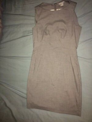 Grey Workwear Pencil Suit Dress And Jacket 12-14 From H&M