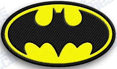 BATMAN iron on embroidery patch - 2.4 X 1.6 INCHES  ROBIN THE DARK NIGHT