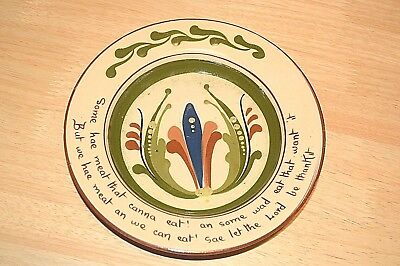 Devon Motto Ware Plate/dish Aller Vale marked N1 to base approx 20cm across