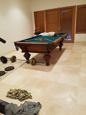 antique pool table bought at bethesda-by-the-sea church auction. Church...