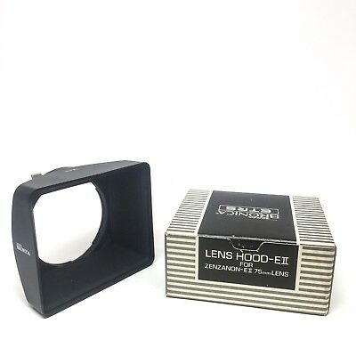 Zenza Bronica ETRS Lens Hood EII for Zenzanon EII 75mm ETRSi ETR like new in box