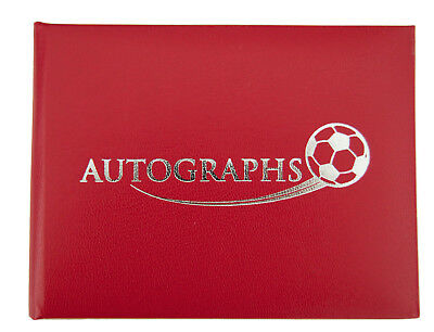 Football Autograph Book - Red, Liverpool FC, Manchester United FC, Charlton FC