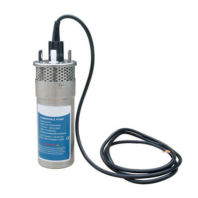 """24V Stainless Shell Deep Well Water Pump 3.2GPM 4"""" Submersible for Irrigation US"""