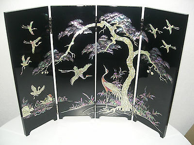 * Mother Of Pearl*  Mini Folding Screen  Perlmutt Faltwand Aus Asien Korea Neu !