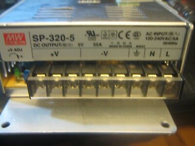 Mean Well SP-320-5 5V 275W 55A LED Sign Power Supply-NICE UNITS IN GREAT SHAPE!!