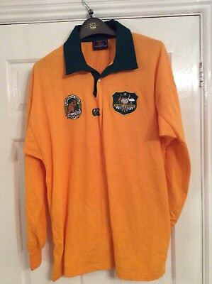 Australia Wallabies Canterbury yellow rugby shirt top adult size large