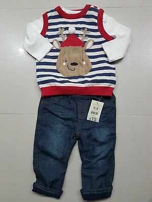 ☆☆BNWT George baby boys Christmas outfit 6 - 9 months £15☆☆