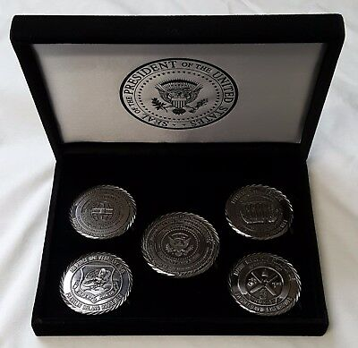POTUS Donald J. Trump WHMO White House Military Office Coins Set #55/100