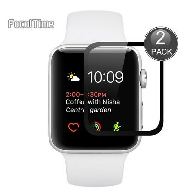 Watch Iwatch Tempered Glass Screen Protector 38mm Apple Series 1 2 Pack Nike+