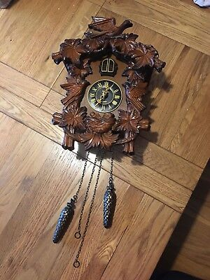 A Lovely Cuckoo Clock By Acctim Quartz Battery Operated