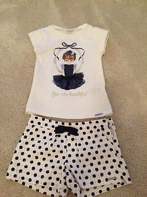 Mayoral Navy And White Kids Short Set Age 6