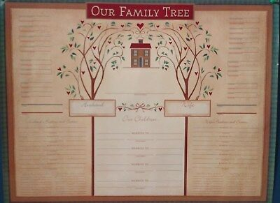 """ Our Family Tree "" Family Tree Charts Genealogy, 17"" x 22"", 4 Pack ~  NIP"