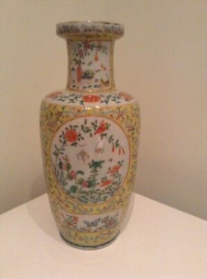 Antique 19thc Chinese Rouleau Vase