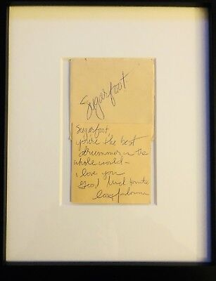 Personally Signed Note from Madonna to her drummer