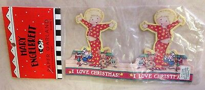 Mary Engelbreit I LOVE CHRISTMAS GARLAND ME Paper Decoration 8 Ft. Vintage New